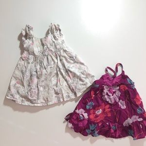 6-12 Month Old Navy Baby Girl Dress Set - 2 Floral